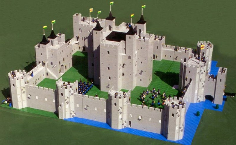 Carney Castle made of Legos by Robert Carney