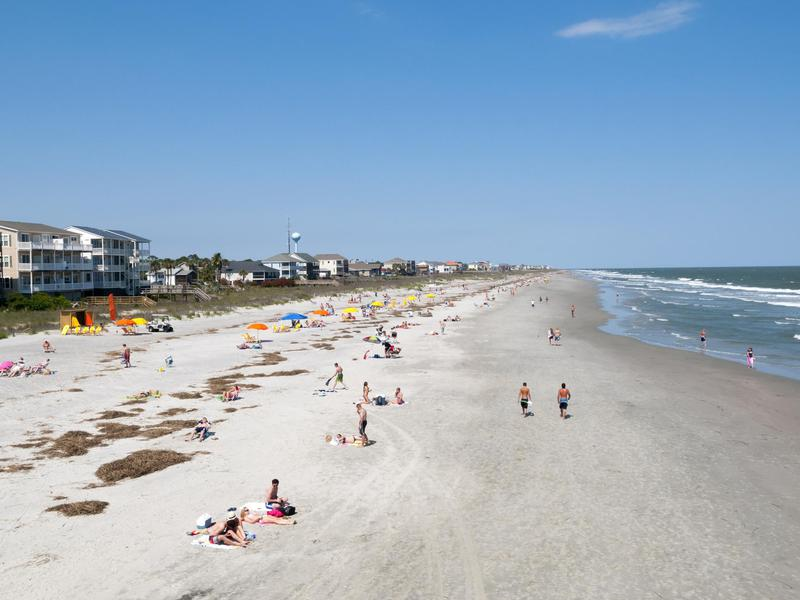 People at Folly Beach South Carolina