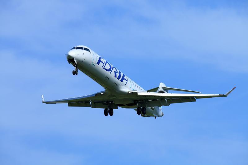Adria Airways plane in the air