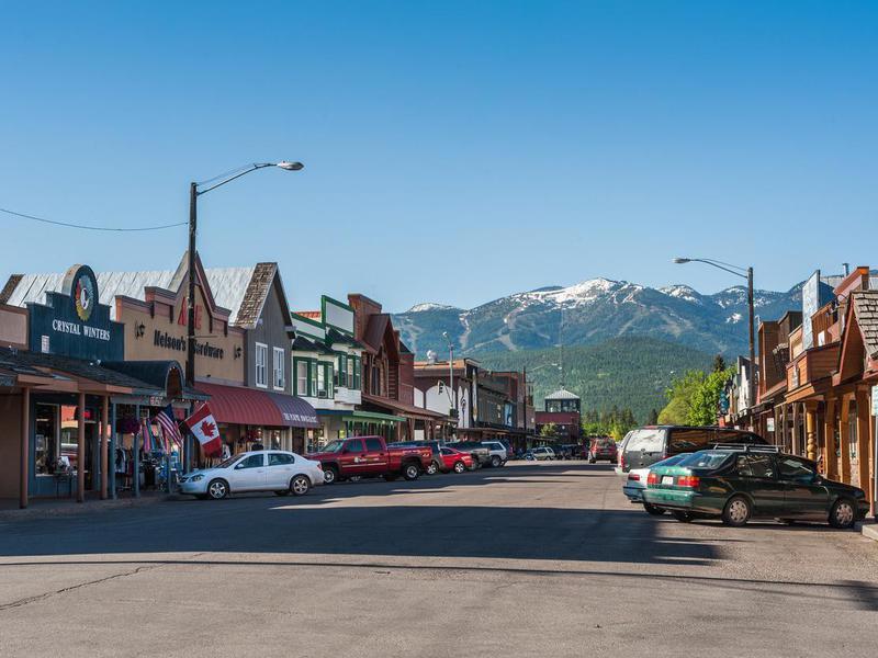 Whitefish Main Street in Montana