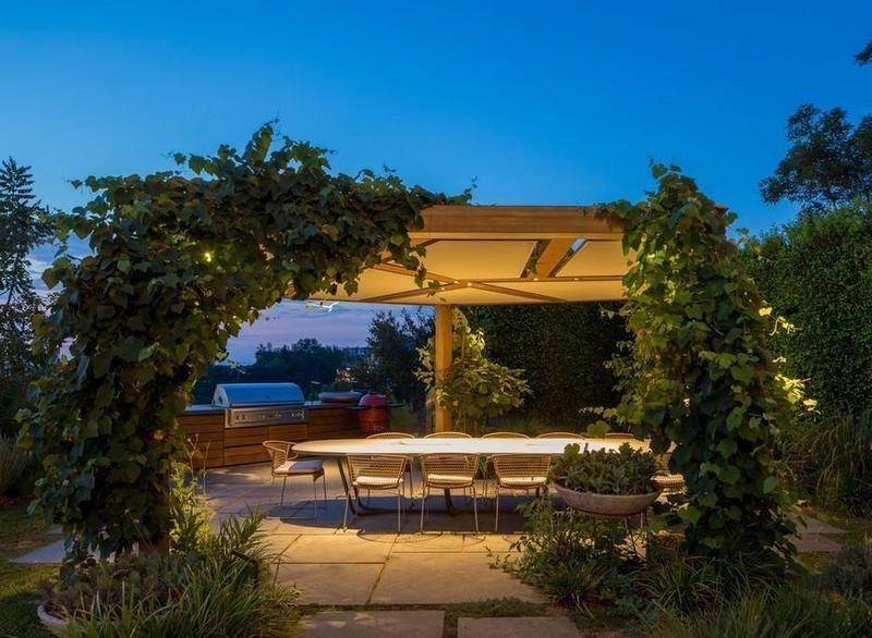 Outdoor barbecue patio