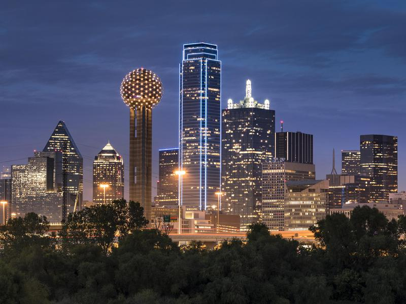 Dallas, Texas (pictured) is just one of many places in the U.S. where you can live large on less.