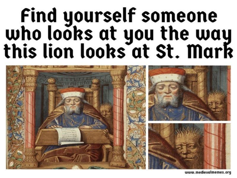 St. Mark painting meme