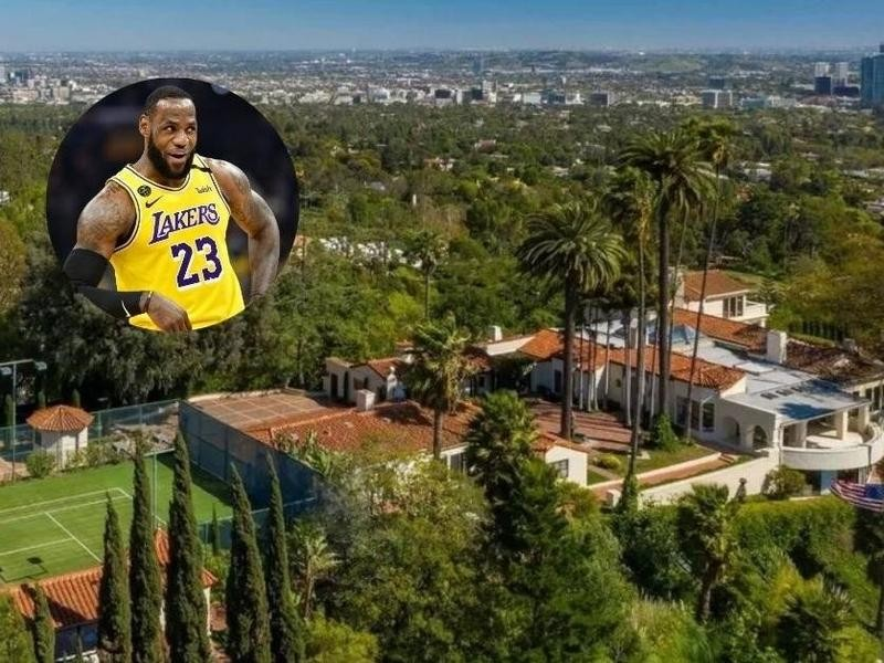 LeBron James' home in Beverly Hills