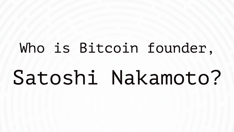 Who is the Bitcoin founder?