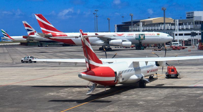 Plane in Mauritius airport