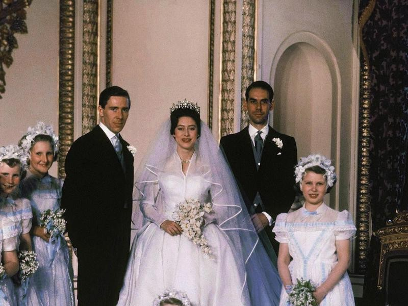 Princess Margaret in the Poltimore Tiara on Her Wedding Day