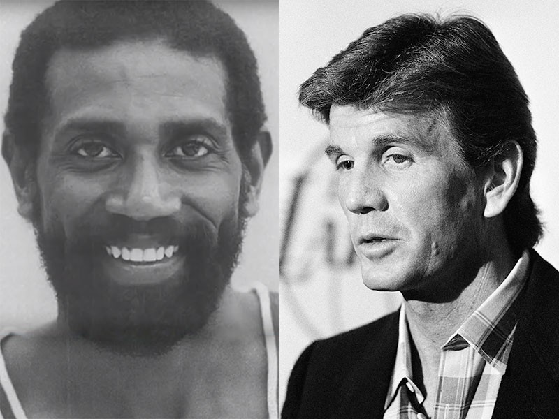Spencer Haywood and Paul Westhead
