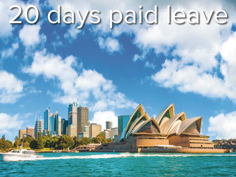The city skyline of Sydney, Australia. Circular Quay