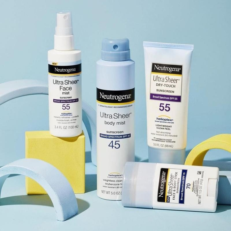 Neutrogena products in a flat lay