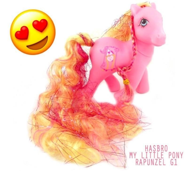 My Little Pony Repunzel with heart eyes around it
