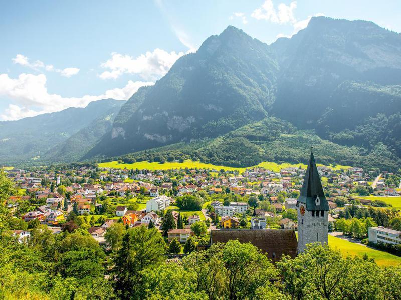 Balzers village in Liechtenstein