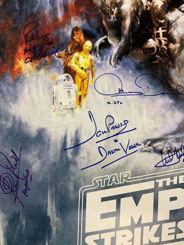 """Cast-signed """"Empire Strikes Back"""" Poster"""