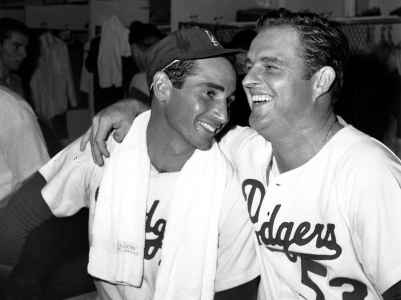 Don Drysdale and Sandy Koufax share a laugh