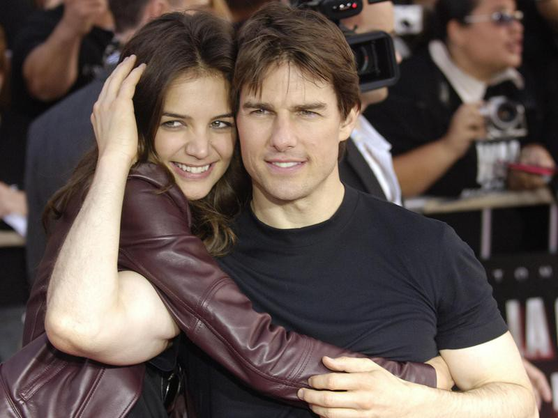 Tom Cruise and Katie Holmes arrive at screening