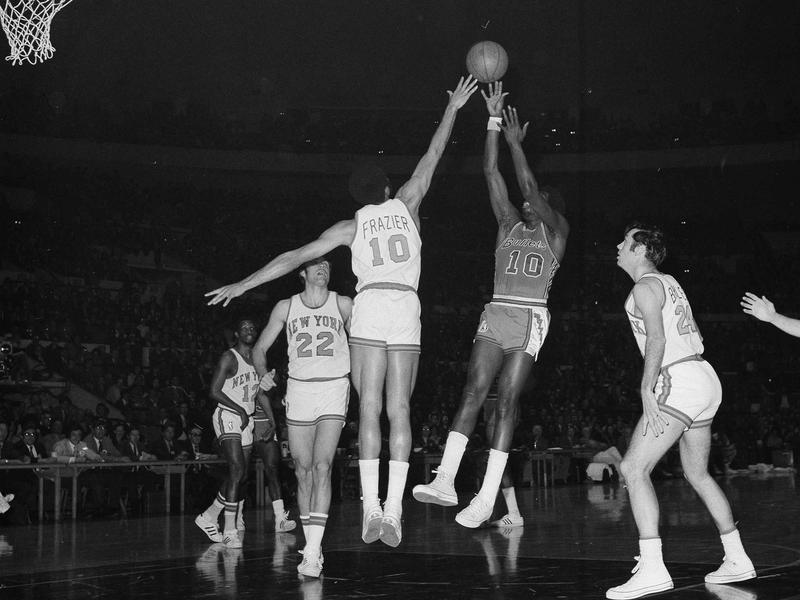 Earl Monroe, Walt Frazier, Dick Barnett, Dave DeBusschere