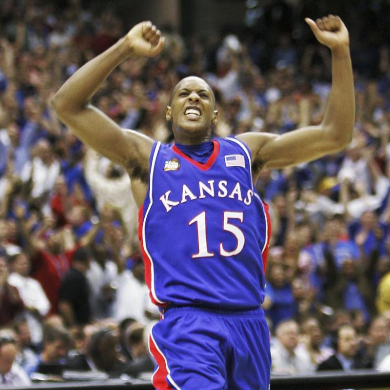 Kansas' Mario Chalmers celebrates