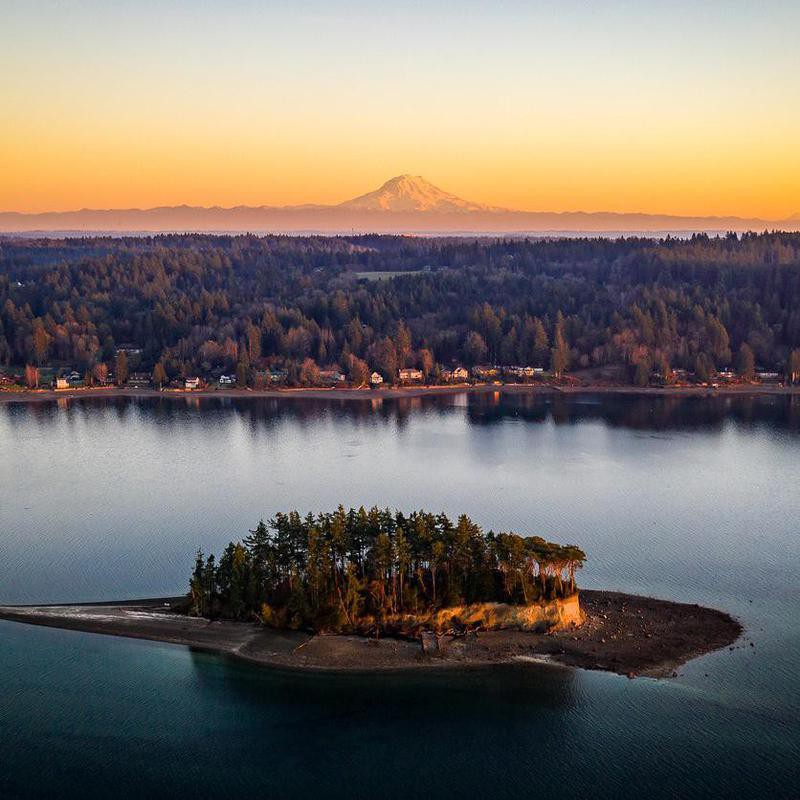 Aerial view of Puget Sound