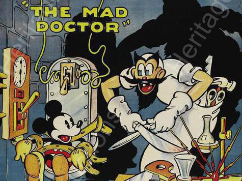 Mickey Mouse Mad Doctor Poster