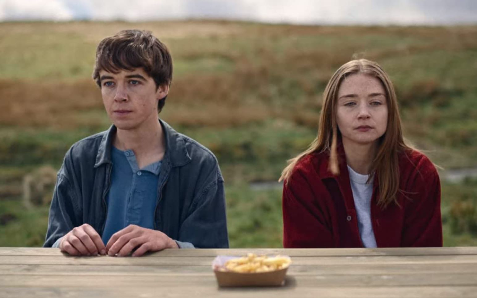 Alex Lawther and Jessica Barden,