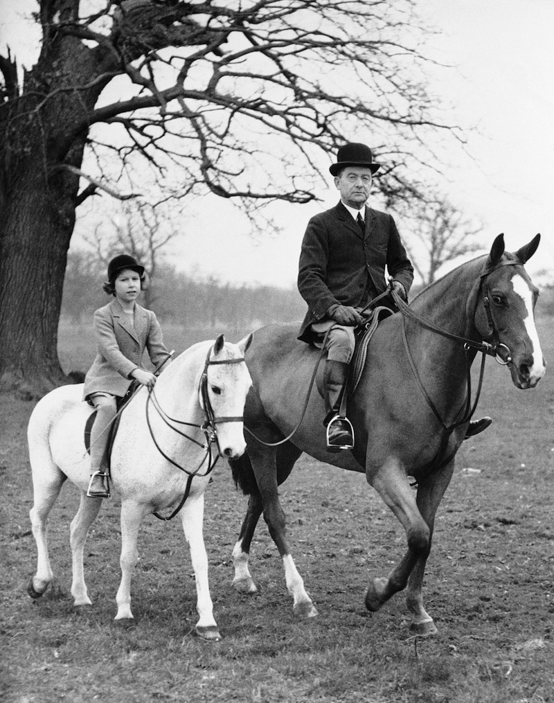 Princess Elizabeth and her pony