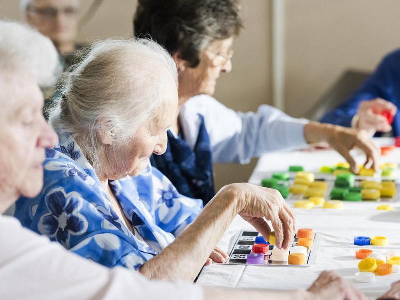 Women Playing Bingo