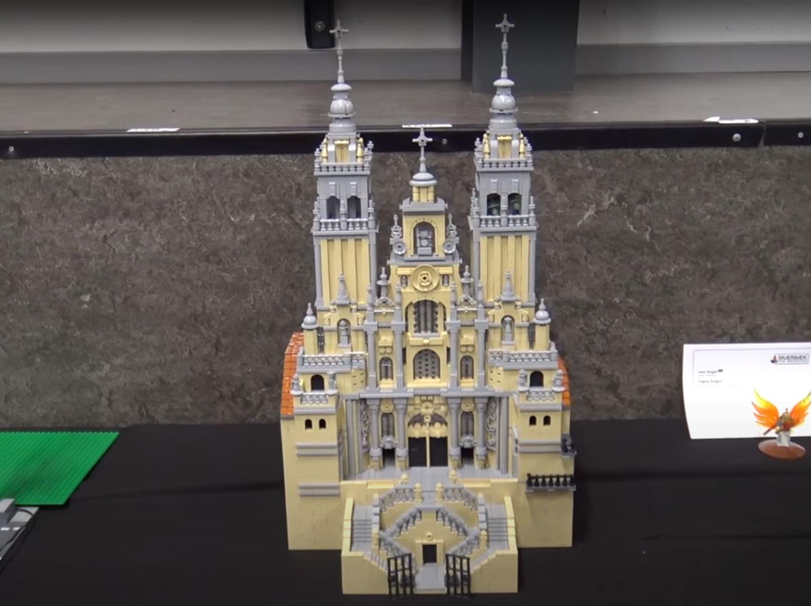 Santiago de Compostela Cathedral lego by Jessica Farrell