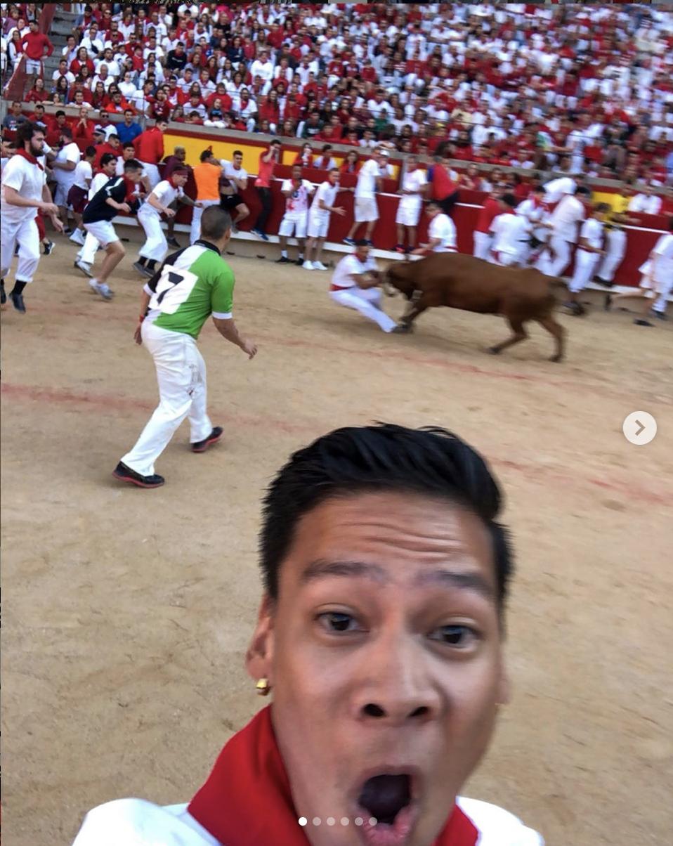 Bull selfie