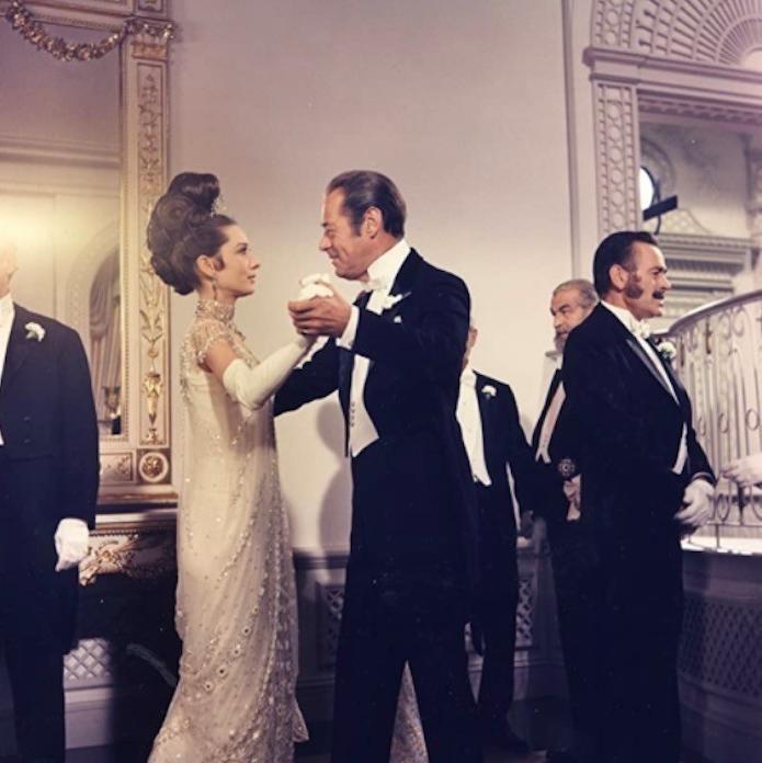Audrey Hepburn and Rex Harrison dancing in My Fair Lady