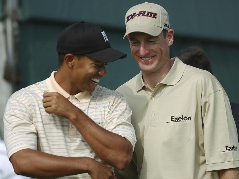 Tiger Woods and Jim Furyk