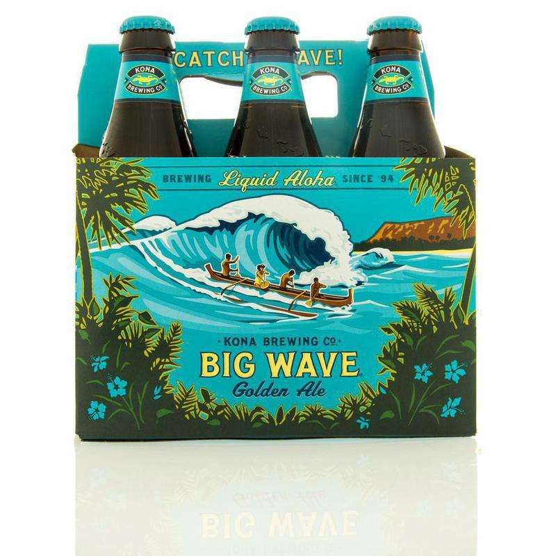 Six pack of Big Wave beer