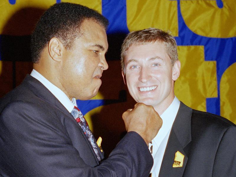 Muhammad Ali and Wayne Gretzky