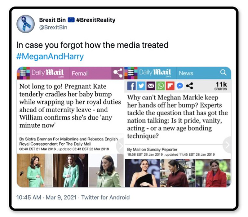 Media treated Meghan different than Kate
