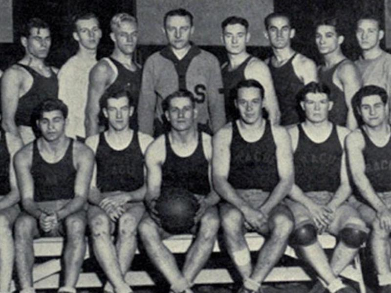 Lew Andreas and 1927-28 Syracuse team