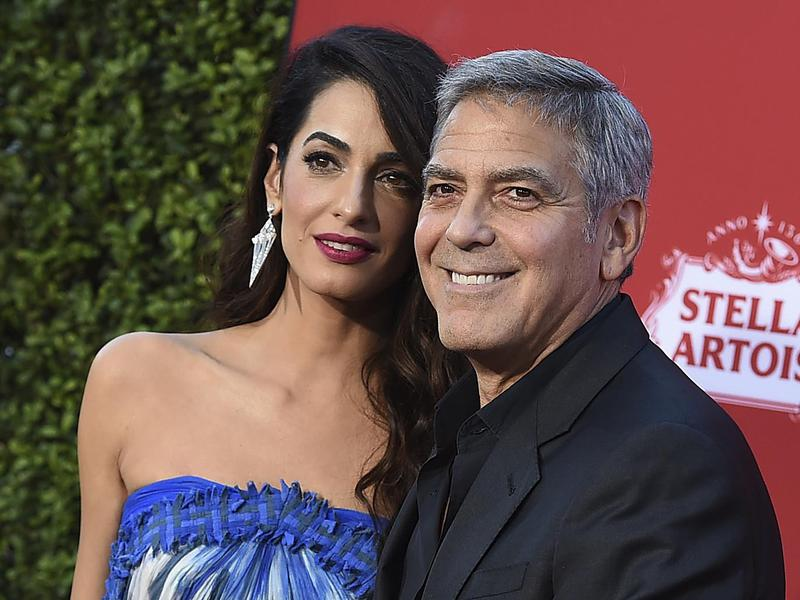 George Clooney is all smiles