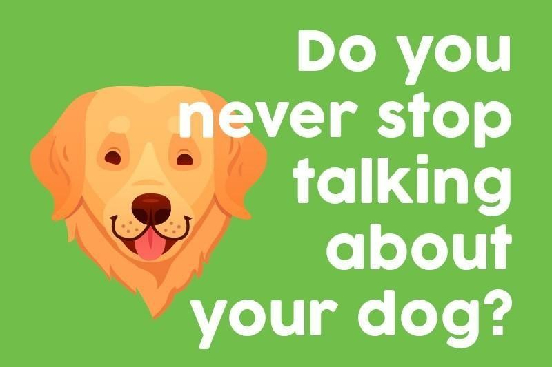 Do you never stop talking about your dog?
