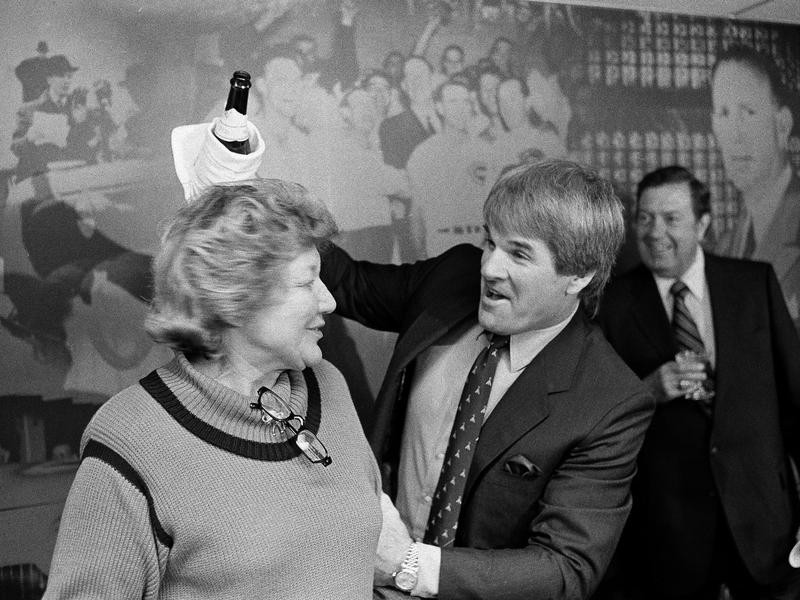 Marge Schott and Pete Rose