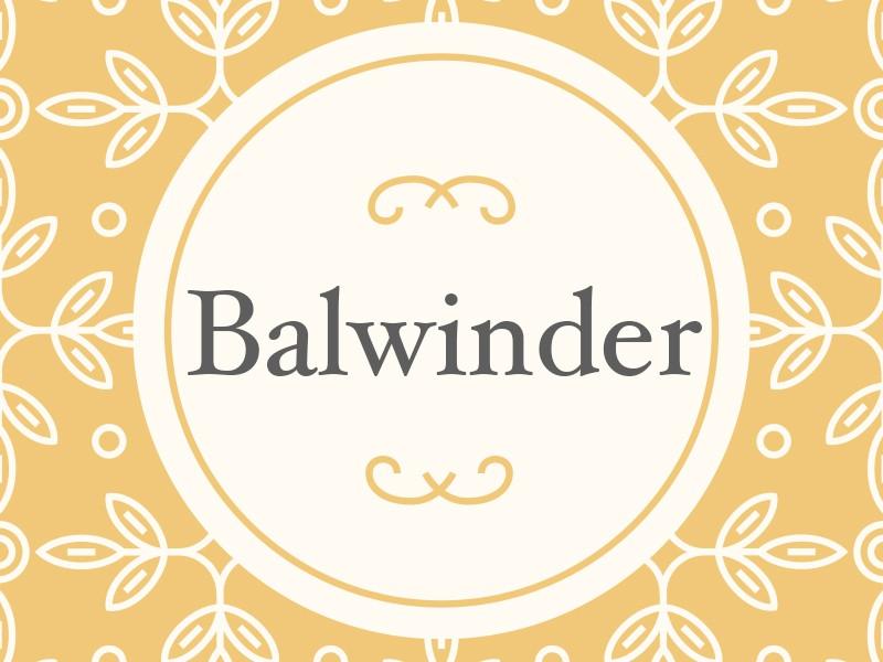 Balwinder