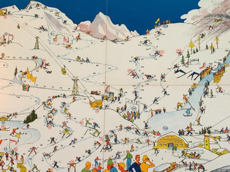 Im Wintersportparadies Vintage Board Game board