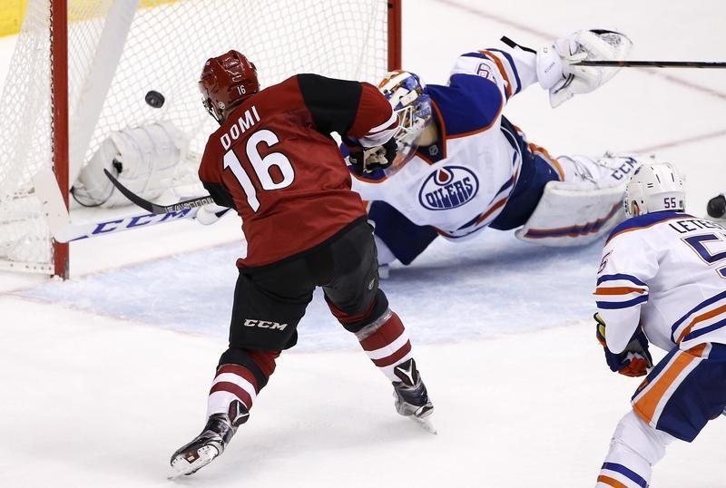 Max Domi scores goal against Edmonton Oilers