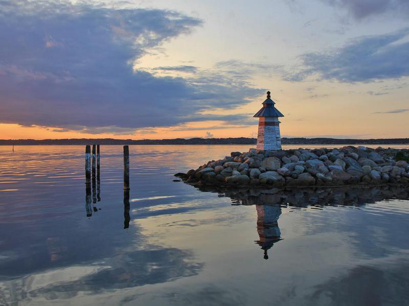 Lighthouse in Ebeltoft, Denmark