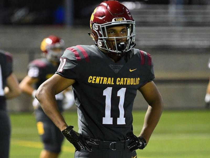 Central Catholic wide receiver Silas Starr
