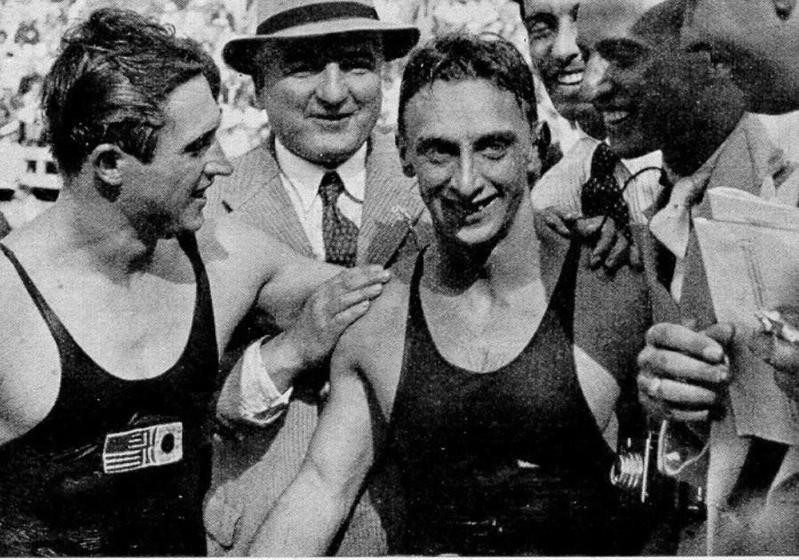 Ferenc Csik smiling after winning race