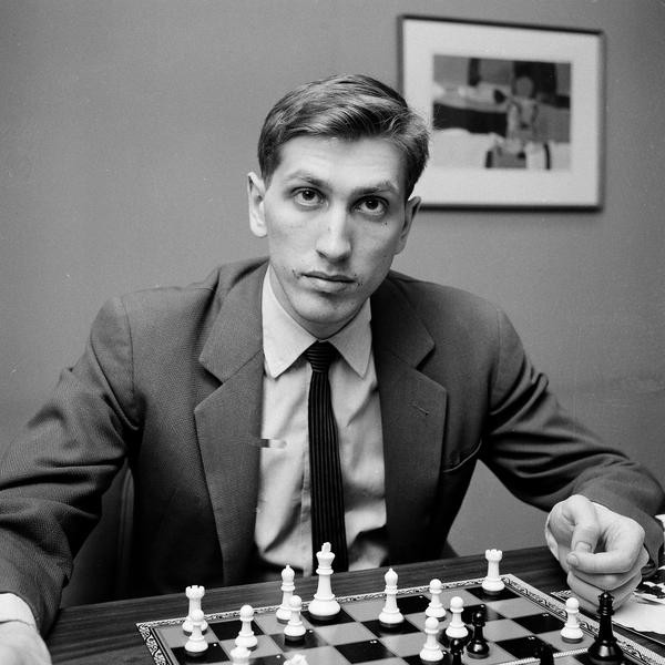Chess star Bobby Fischer of Brooklyn, N.Y., is seen in New York, April 28, 1962.  (AP Photo/John Lent)
