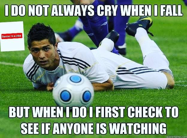 Ronaldo on ground