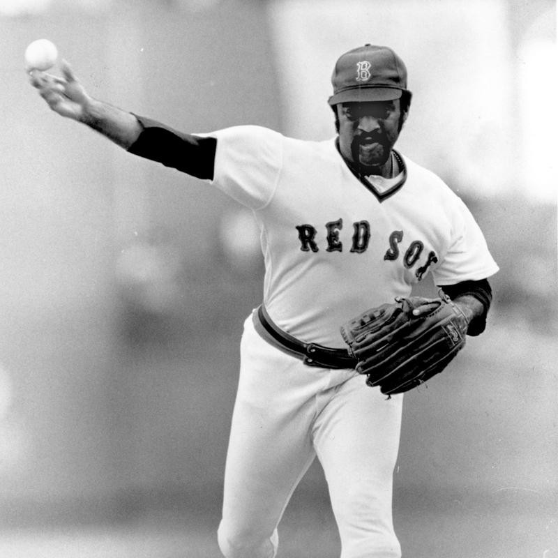 Boston Red Sox veteran pitcher Luis Tiant throws two-hitter