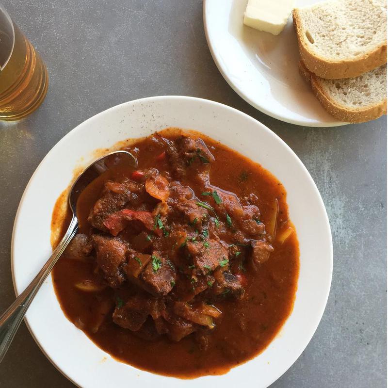 Austrian goulash soup for hangovers