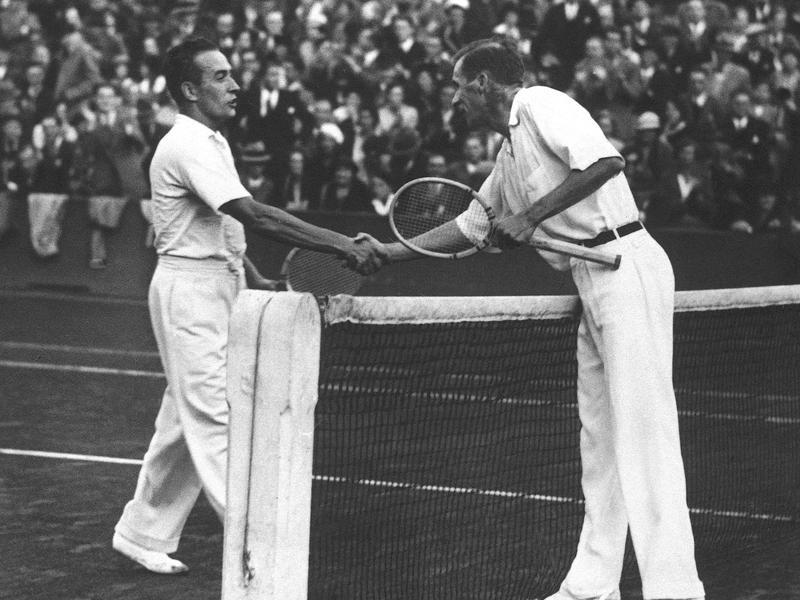 Henri Cochet and Bill Tilden