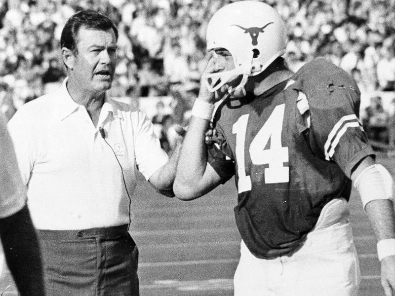 Darrell Royal and Eddie Phillips