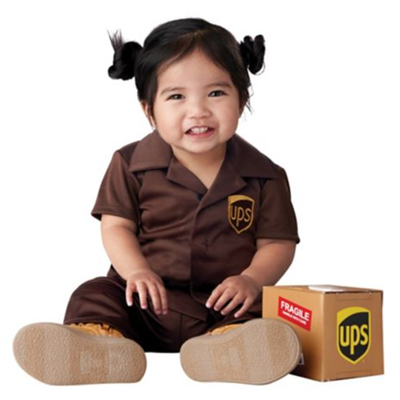 baby UPS worker costume